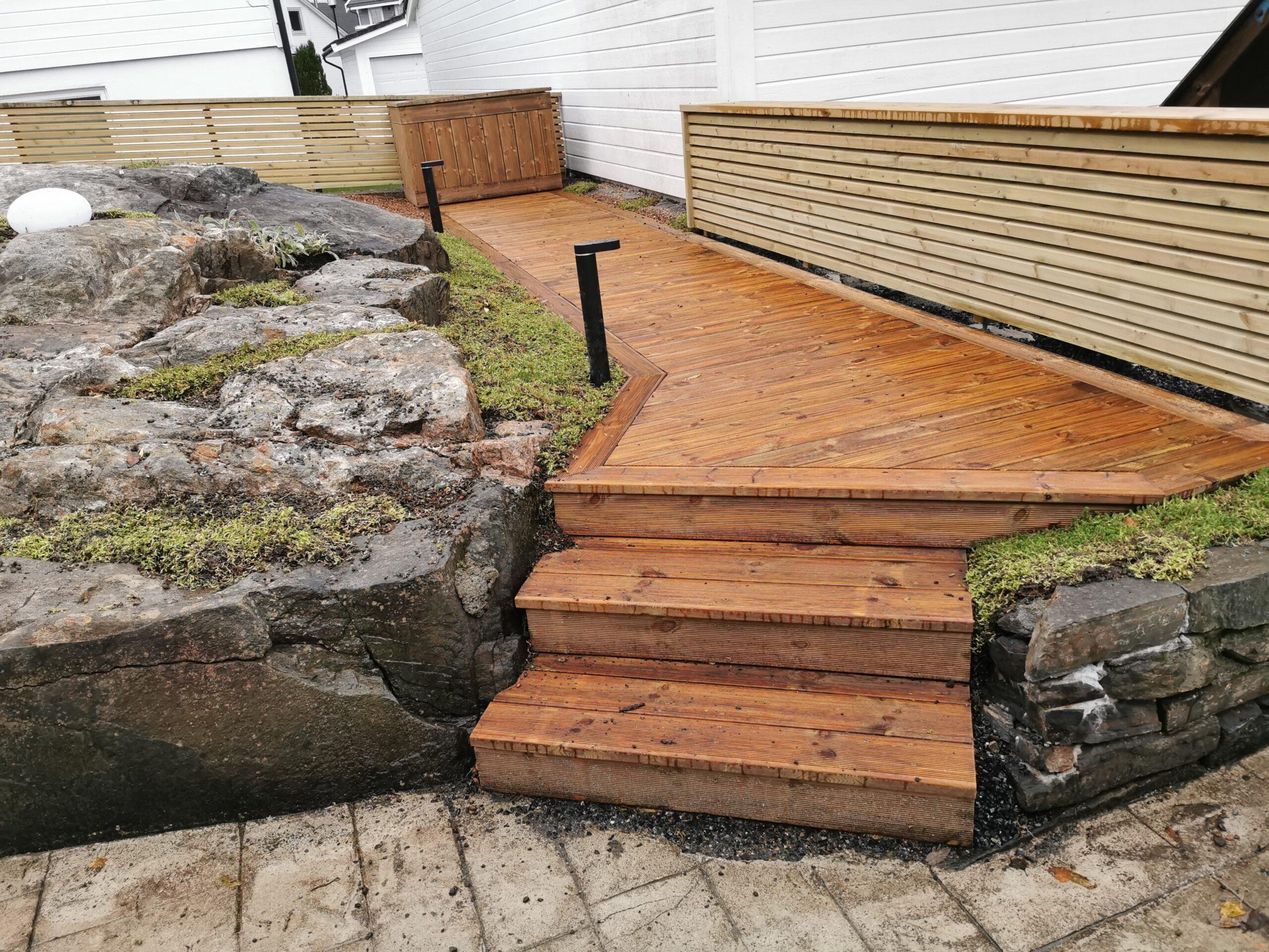 Bygging Treterrasse i Bergen og omegn (2)